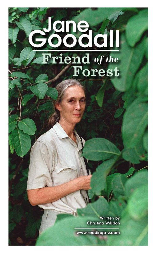 Book Preview For Jane Goodall: Friend of the Forest Page 2