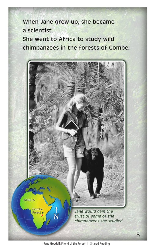 Book Preview For Jane Goodall: Friend of the Forest Page 5