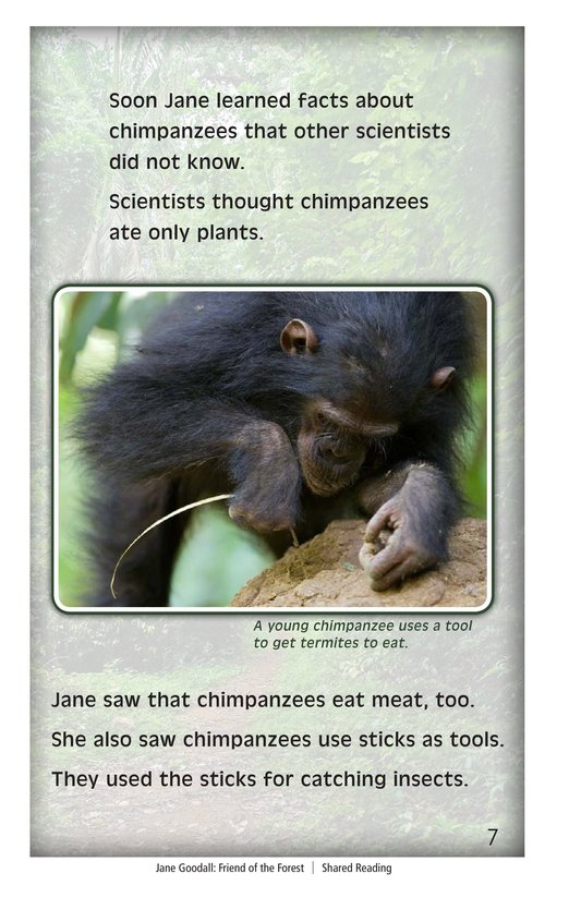 Book Preview For Jane Goodall: Friend of the Forest Page 7