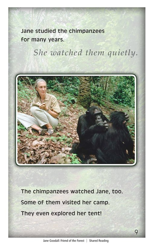 Book Preview For Jane Goodall: Friend of the Forest Page 9