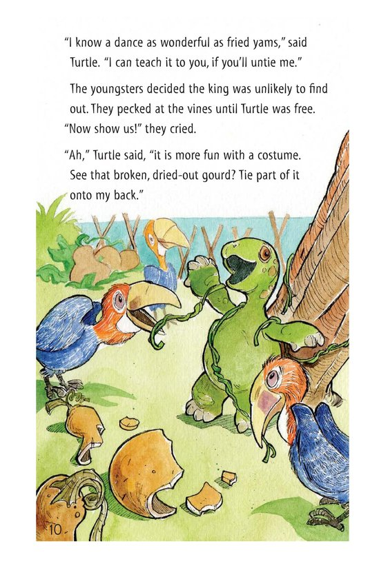 Book Preview For How Turtle Got His Shell and Why Tiger Can't Climb Trees Page 10