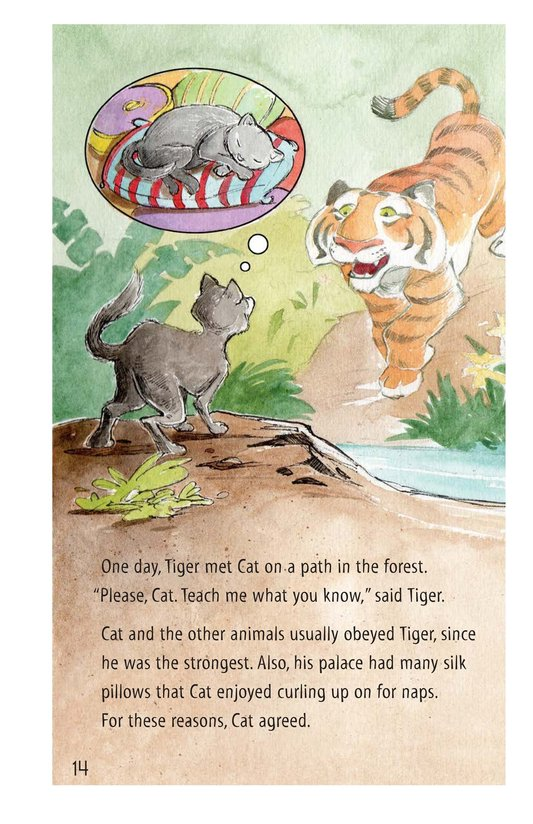 Book Preview For How Turtle Got His Shell and Why Tiger Can't Climb Trees Page 14