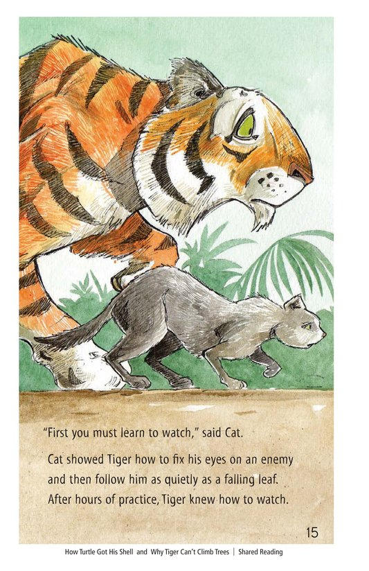 Book Preview For How Turtle Got His Shell and Why Tiger Can't Climb Trees Page 15