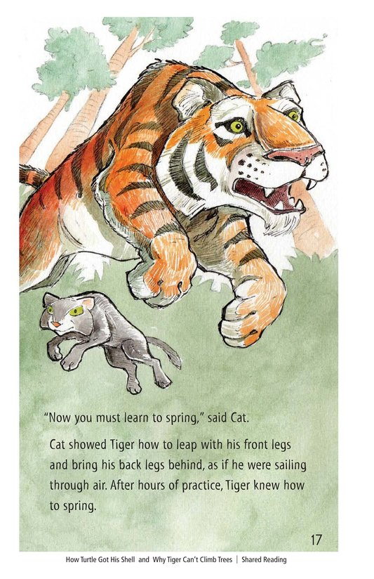 Book Preview For How Turtle Got His Shell and Why Tiger Can't Climb Trees Page 17