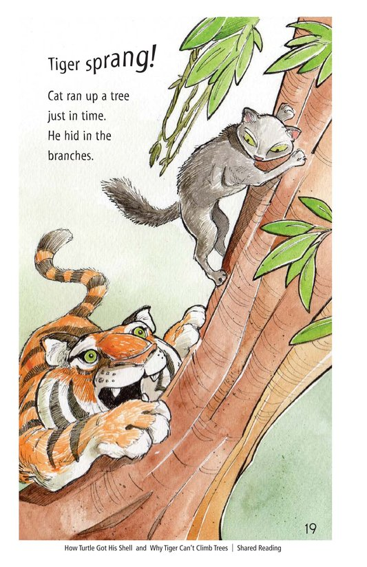 Book Preview For How Turtle Got His Shell and Why Tiger Can't Climb Trees Page 19