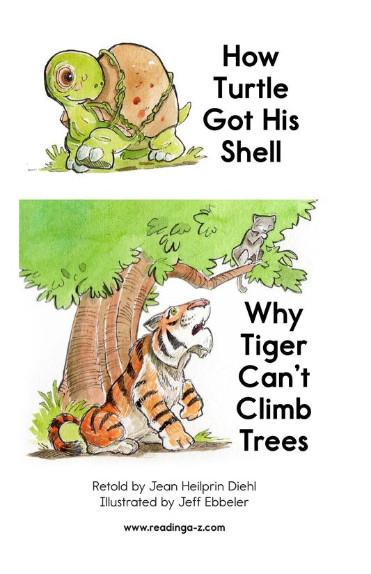 Book Preview For How Turtle Got His Shell and Why Tiger Can't Climb Trees Page 2