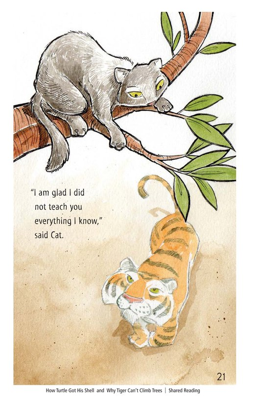Book Preview For How Turtle Got His Shell and Why Tiger Can't Climb Trees Page 21