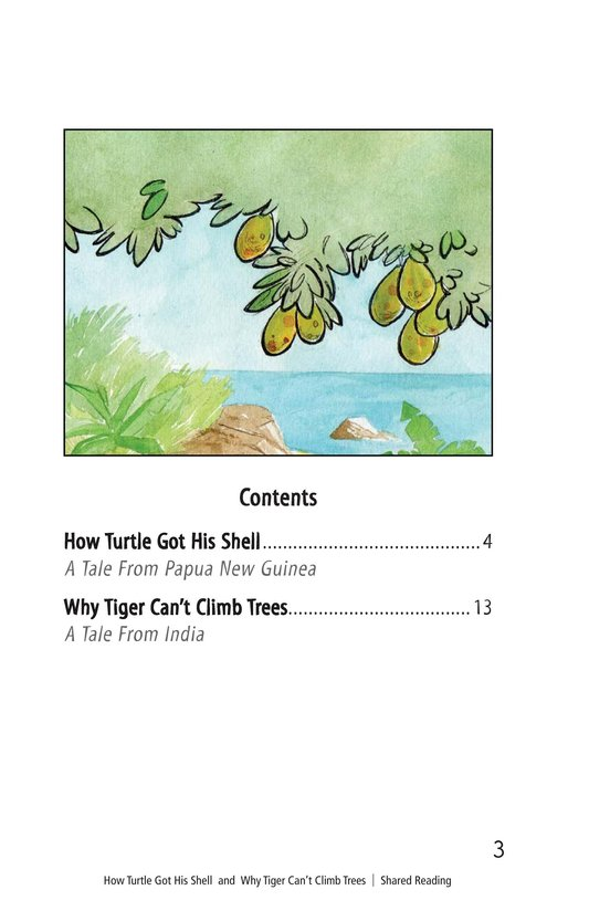 Book Preview For How Turtle Got His Shell and Why Tiger Can't Climb Trees Page 3