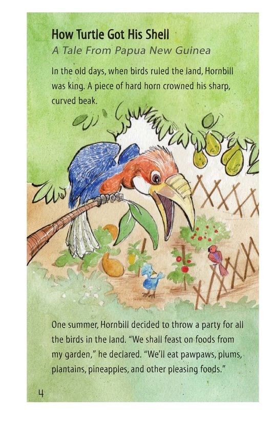 Book Preview For How Turtle Got His Shell and Why Tiger Can't Climb Trees Page 4