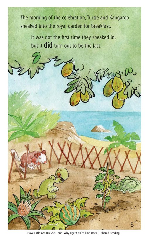 Book Preview For How Turtle Got His Shell and Why Tiger Can't Climb Trees Page 5