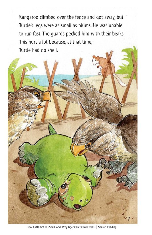 Book Preview For How Turtle Got His Shell and Why Tiger Can't Climb Trees Page 7