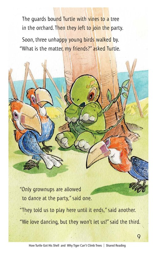 Book Preview For How Turtle Got His Shell and Why Tiger Can't Climb Trees Page 9