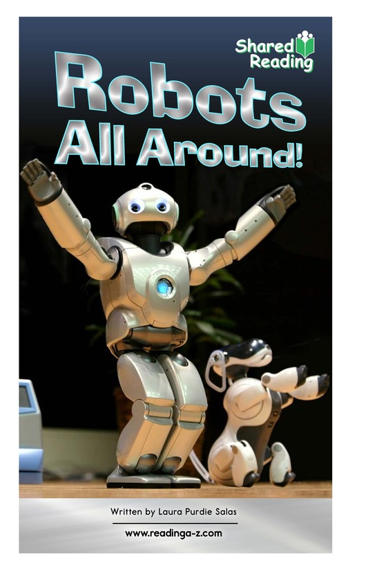 Book Preview For Robots All Around! Page 1