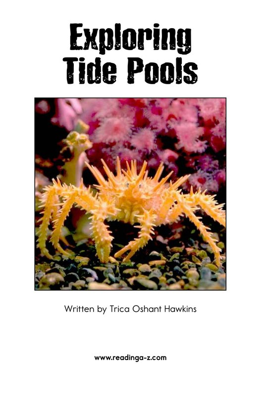 Book Preview For Exploring Tide Pools Page 2