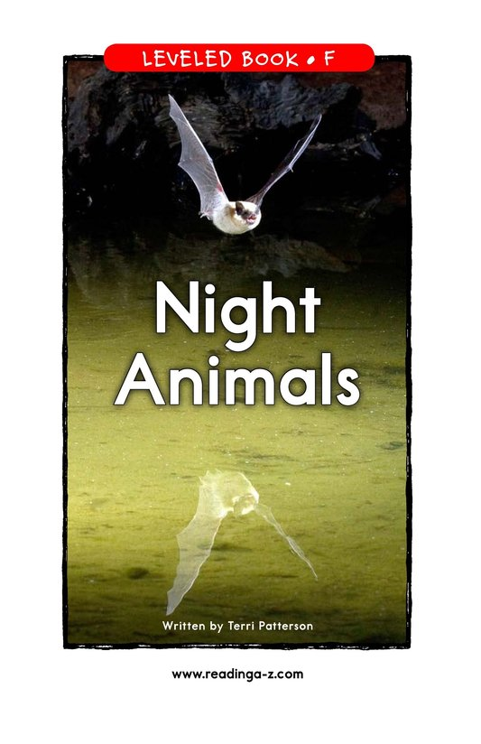 Book Preview For Night Animals Page 1