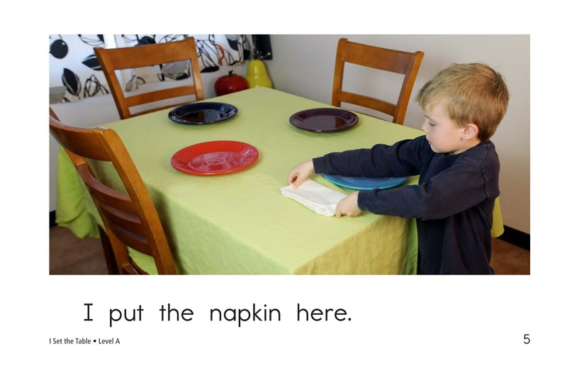 Book Preview For I Set the Table Page 5