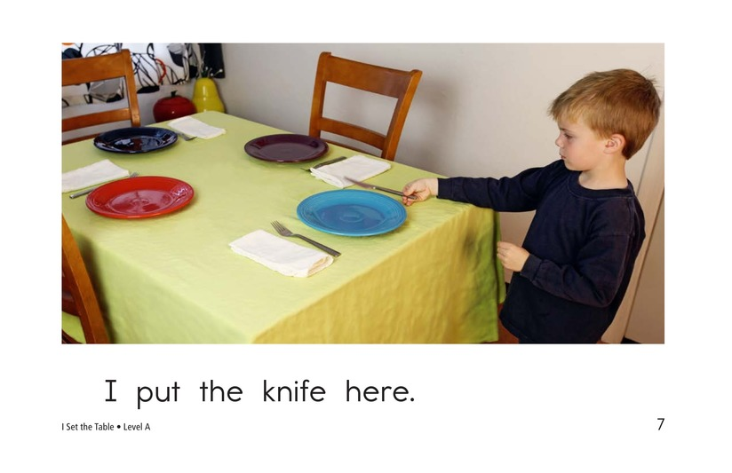 Book Preview For I Set the Table Page 7