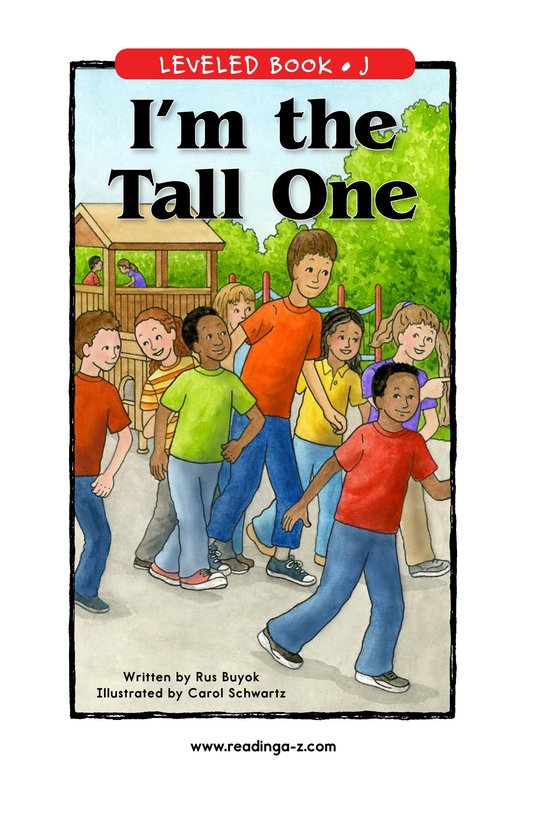 Book Preview For I'm the Tall One Page 1
