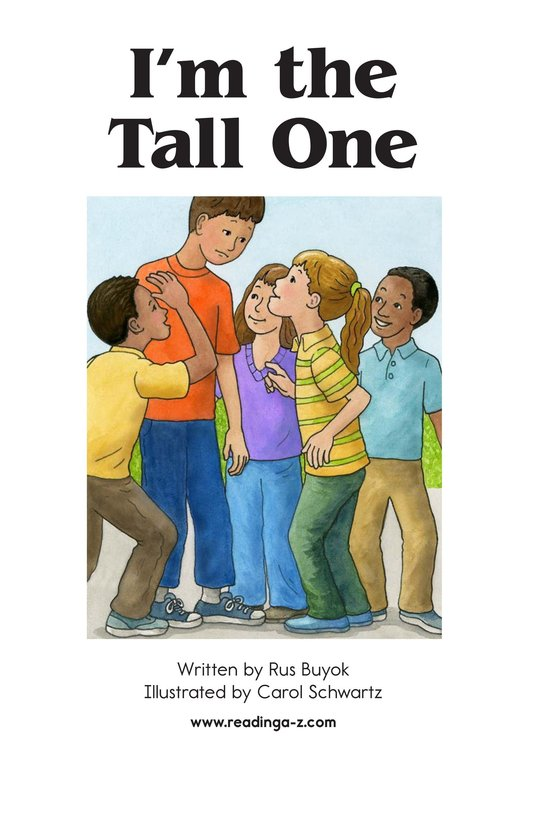 Book Preview For I'm the Tall One Page 2