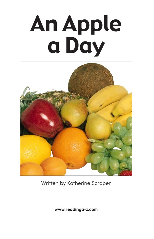 Book Preview For An Apple a Day Page 2