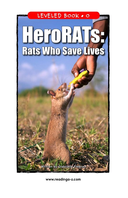 Book Preview For HeroRATs: Rats Who Save Lives Page 1