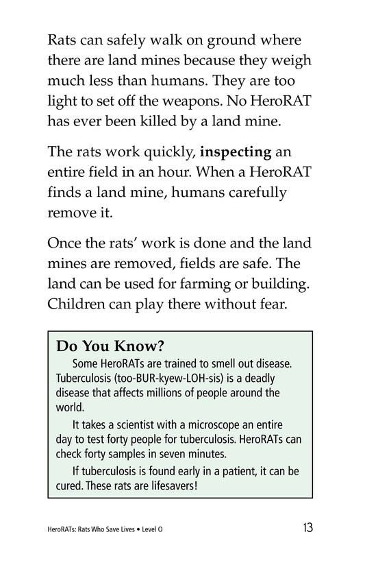 Book Preview For HeroRATs: Rats Who Save Lives Page 13