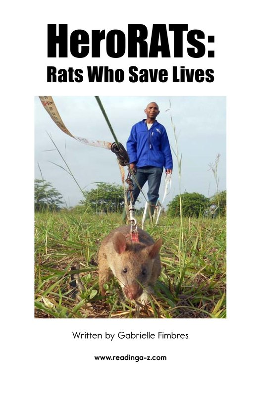 Book Preview For HeroRATs: Rats Who Save Lives Page 2