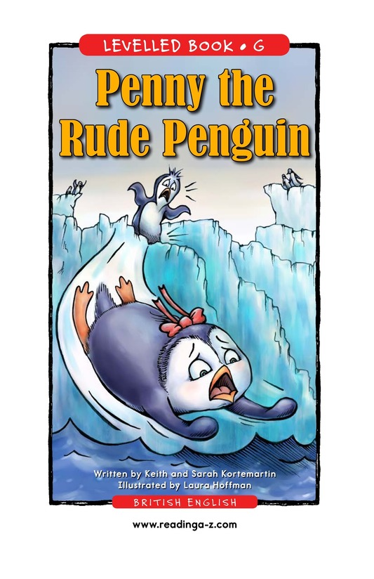Book Preview For Penny the Rude Penguin Page 1