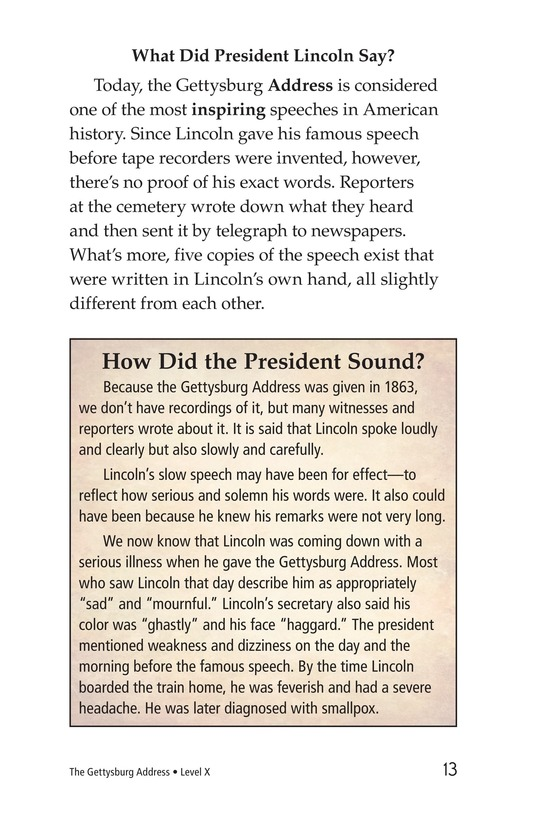 Book Preview For The Gettysburg Address Page 13