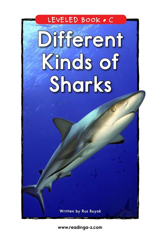 Book Preview For Different Kinds of Sharks Page 1