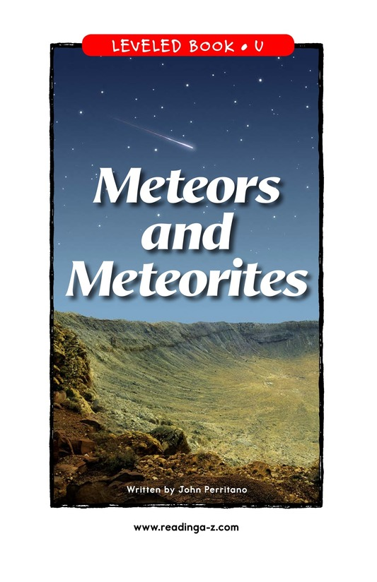 Book Preview For Meteors and Meteorites Page 1