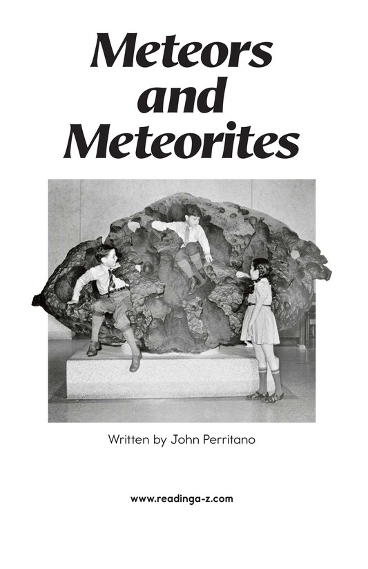 Book Preview For Meteors and Meteorites Page 2