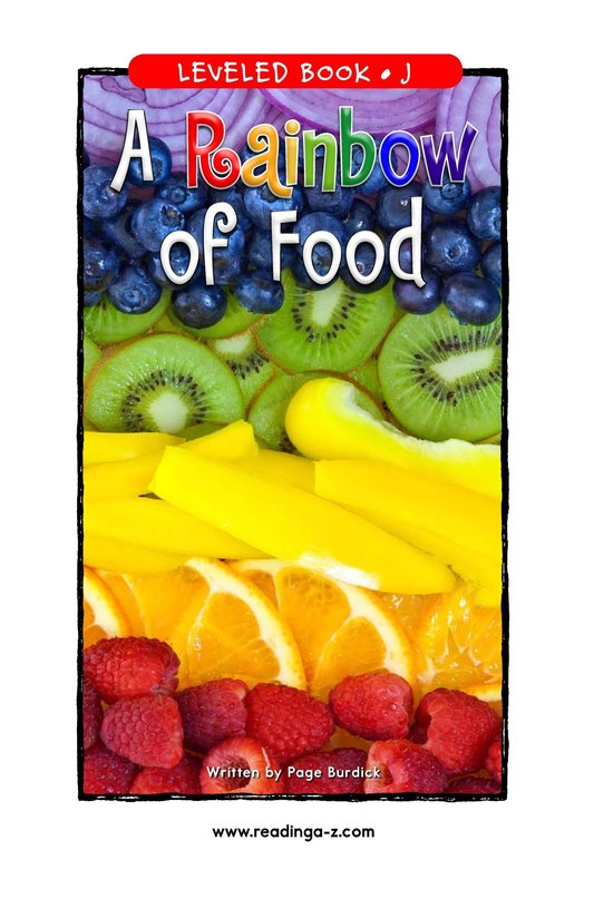 Book Preview For A Rainbow of Food Page 1