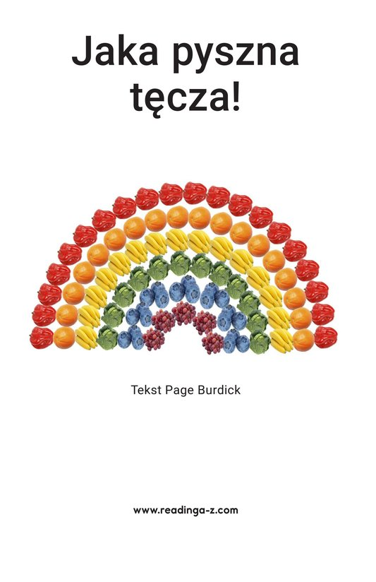 Book Preview For A Rainbow of Food Page 2
