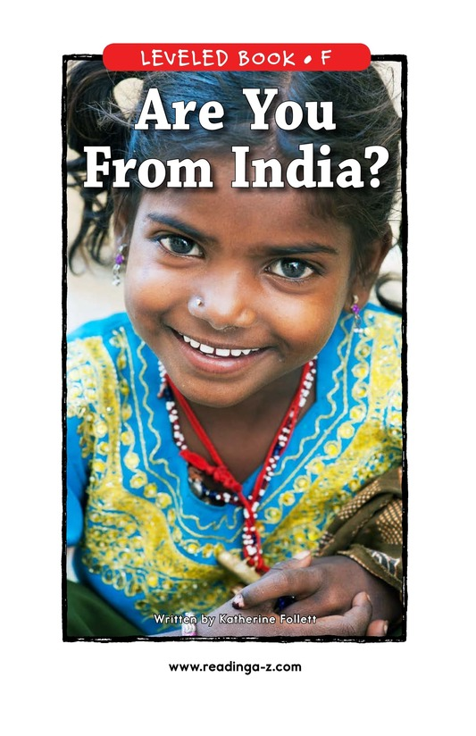Book Preview For Are You From India? Page 1