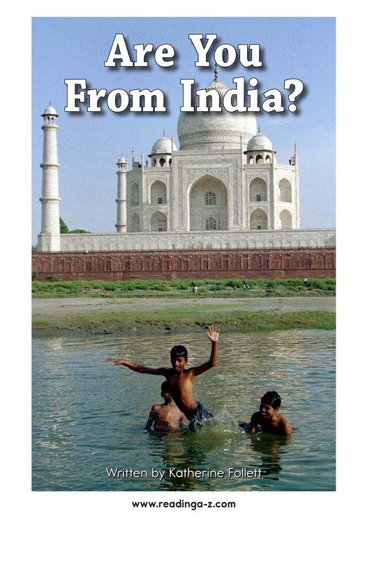 Book Preview For Are You From India? Page 2