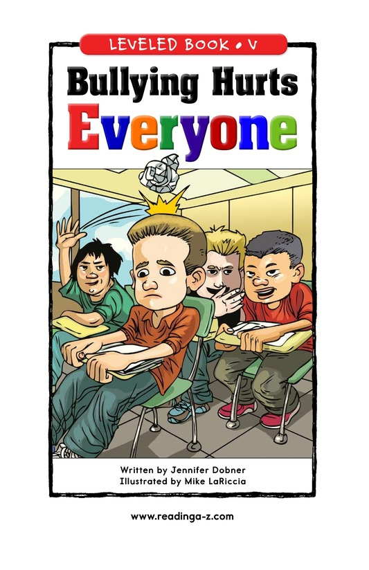 Book Preview For Bullying Hurts Everyone Page 0