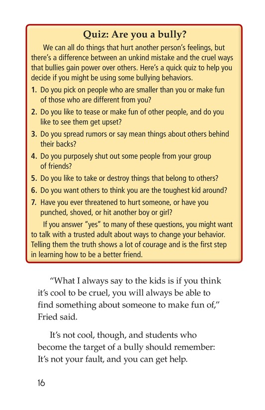 Book Preview For Bullying Hurts Everyone Page 16