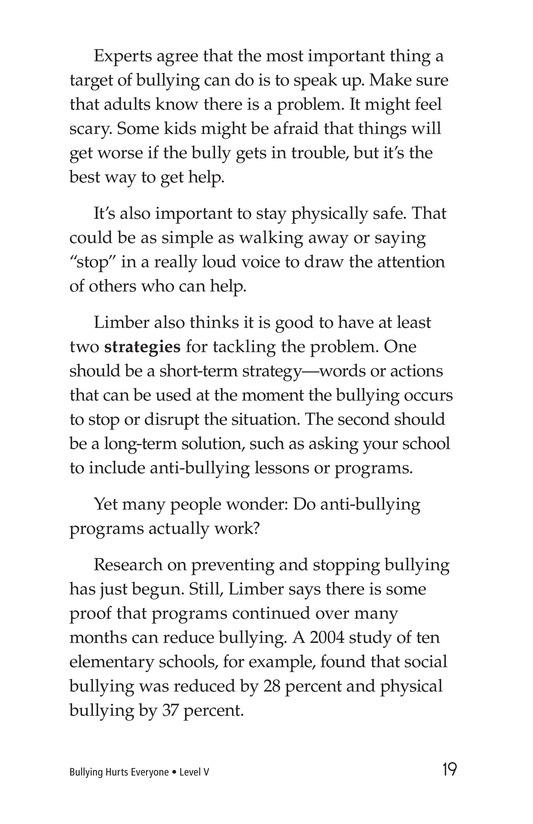 Book Preview For Bullying Hurts Everyone Page 19