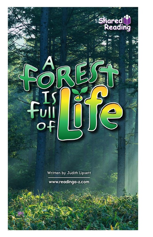 Book Preview For A Forest Is Full of Life Page 1