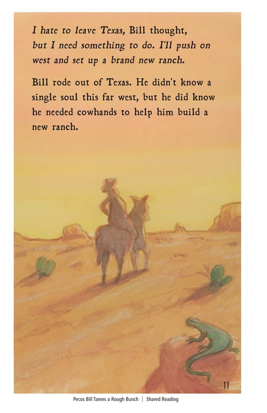 Book Preview For Pecos Bill Tames a Rough Bunch Page 11