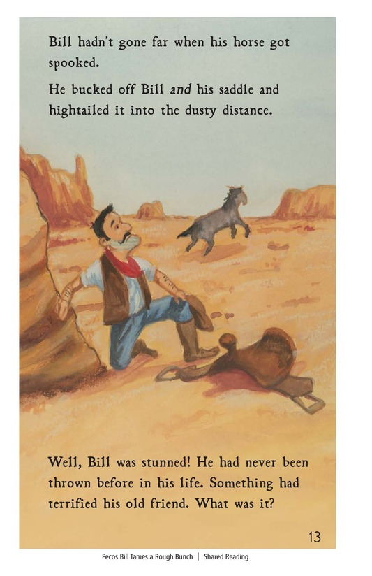 Book Preview For Pecos Bill Tames a Rough Bunch Page 13