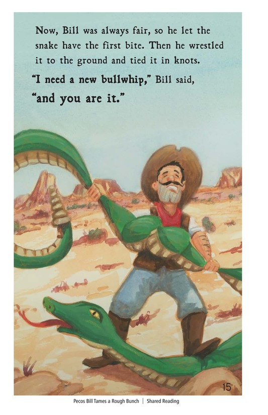 Book Preview For Pecos Bill Tames a Rough Bunch Page 15