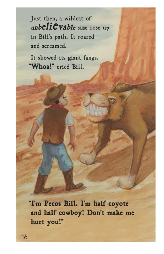 Book Preview For Pecos Bill Tames a Rough Bunch Page 16