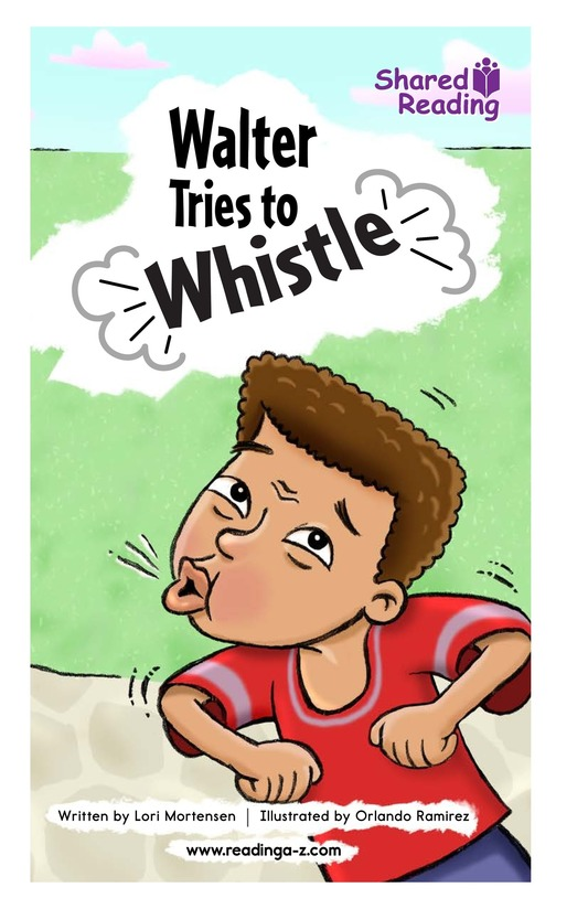 Book Preview For Walter Tries to Whistle Page 1