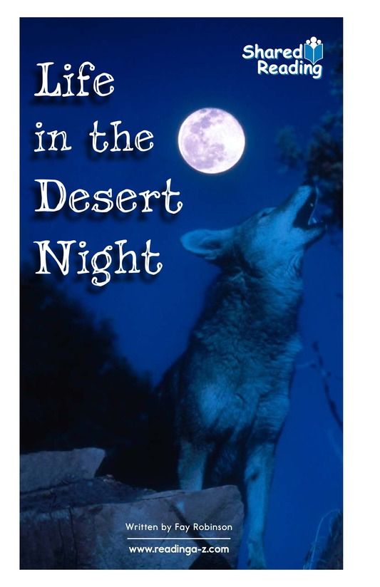 Book Preview For Life in the Desert Night Page 1