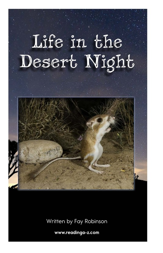 Book Preview For Life in the Desert Night Page 2