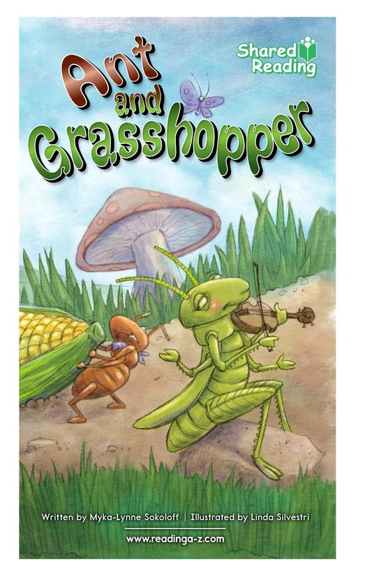 Book Preview For Ant and Grasshopper Page 1