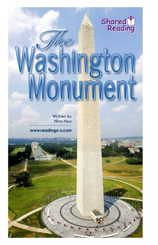 Book Preview For The Washington Monument Page 1