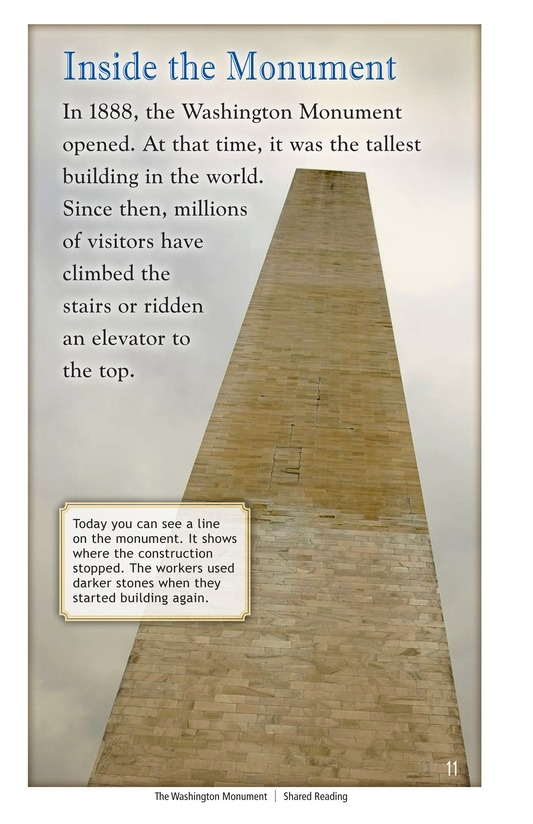 Book Preview For The Washington Monument Page 11